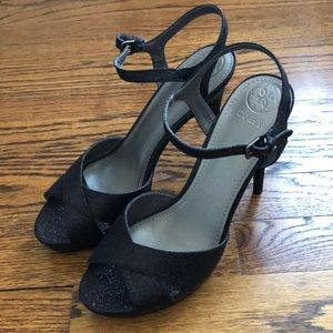 Guess sparkly black heels. Size 8 1/2